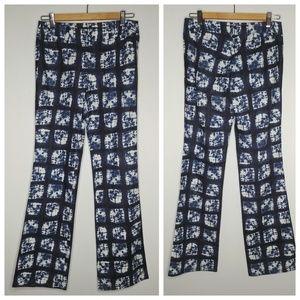 Lafayette 148 Linen / Cotton Batik Tie Dye Pants
